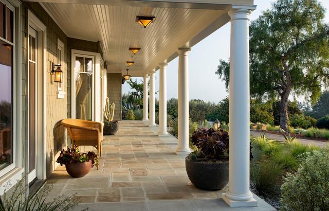 Montecito Shingle Style Home Victorian Porch Santa