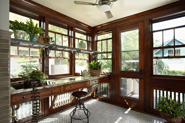 Morningside Bungalow Craftsman Sunroom Minneapolis