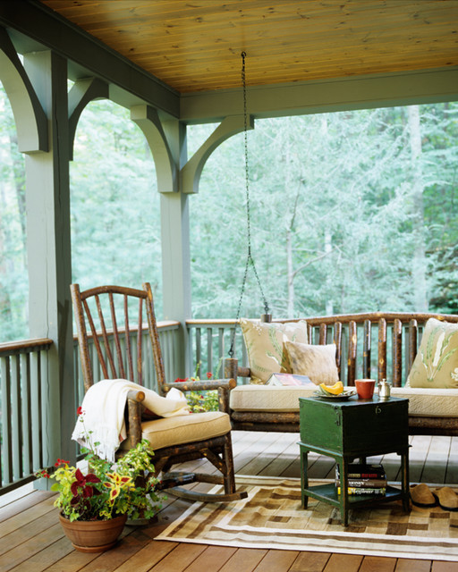 Mountain Cabin traditional-porch