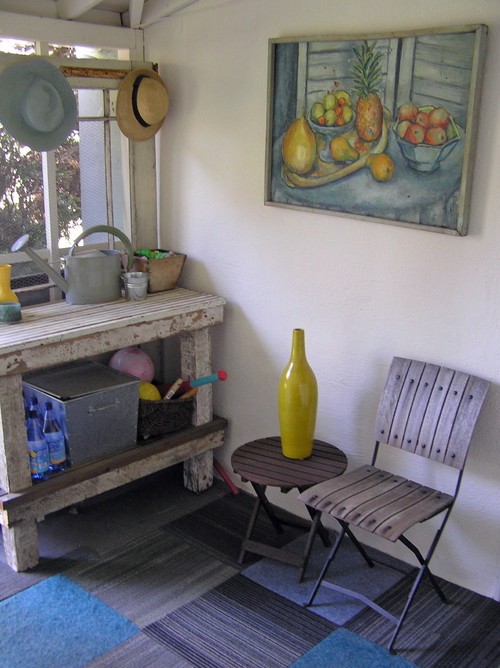 mud room eclectic porch