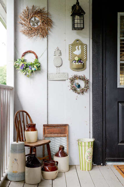 My Houzz: New York Farmhouse With a Western Feel farmhouse-porch