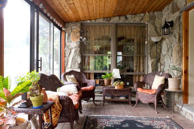 My Houzz: New York Farmhouse With a Western Feel farmhouse-porch