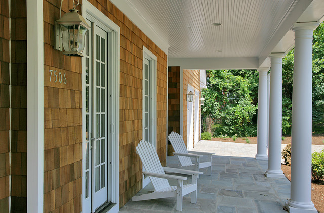Nantucket Style Shingled House In Potomac, MC traditional-porch