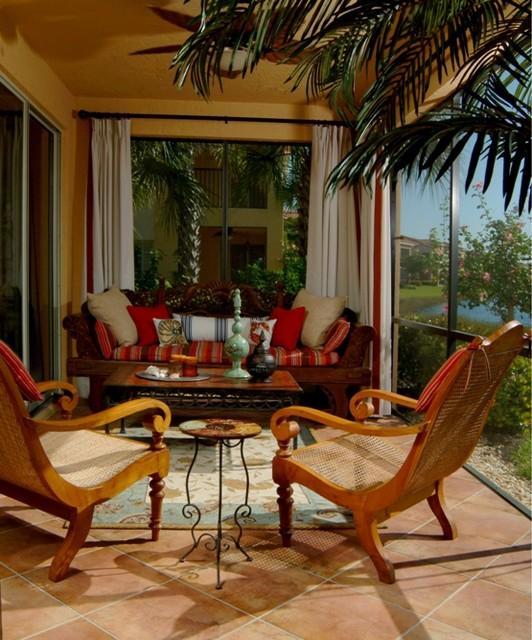 Naples Florida tropical-porch