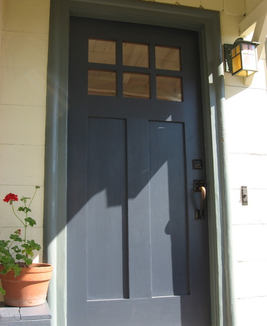 Navy Blue Front Door Porch San Francisco By Green