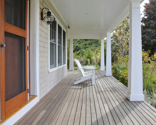 New Cape Cod Home Farmhouse Porch Boston By Encore