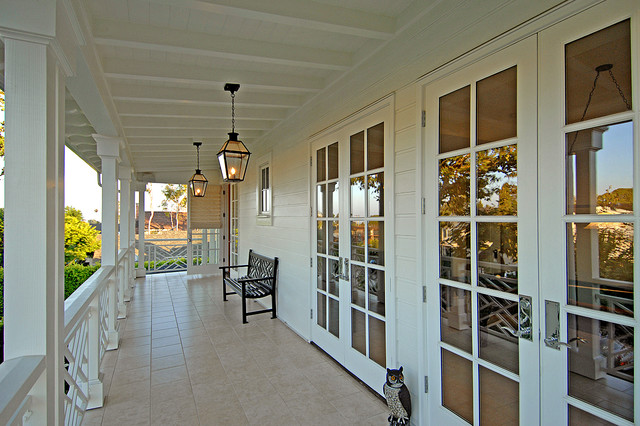 New england traditional traditional porch los for Traditional porch