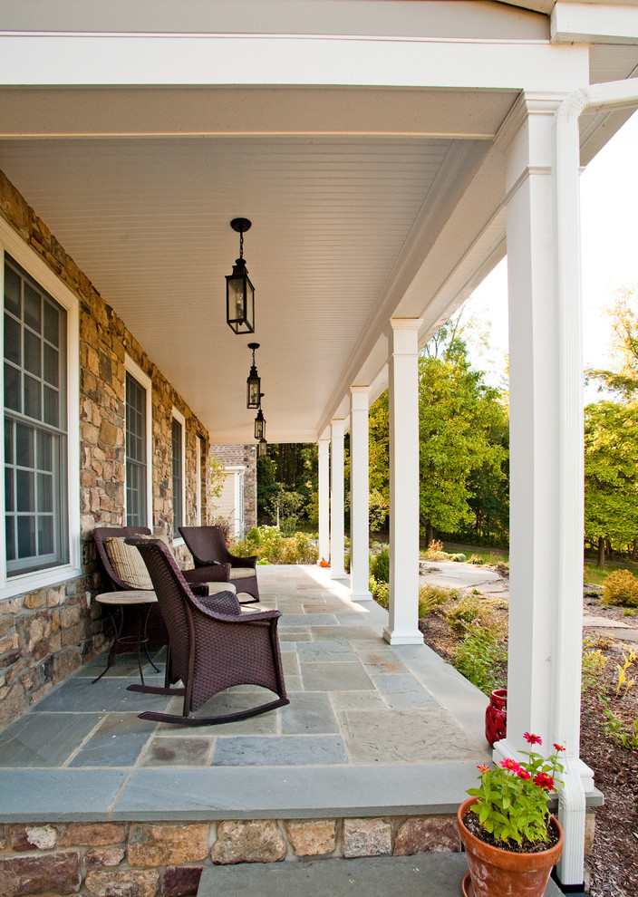 This is an example of a country porch design in Philadelphia.