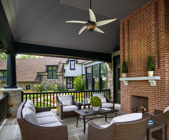 New House - Wayne, PA traditional-porch