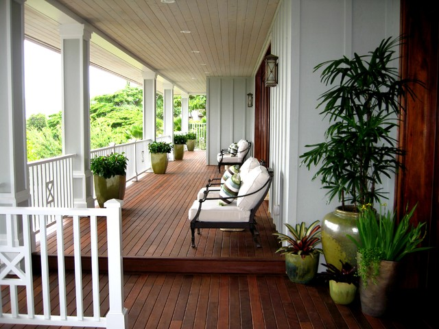 D for Design - Noela Front Lanai - Honolulu Hawaii tropical-porch