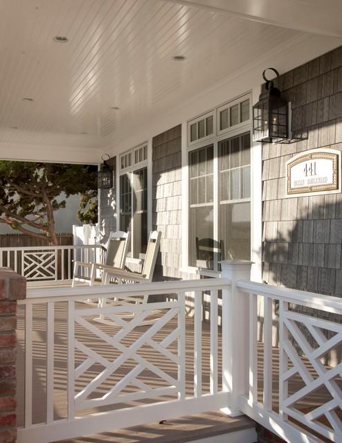 ocean house porch maritim veranda other metro von flagg coastal homes. Black Bedroom Furniture Sets. Home Design Ideas