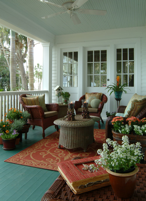 eclectic-porch Wicker Conversation Sets