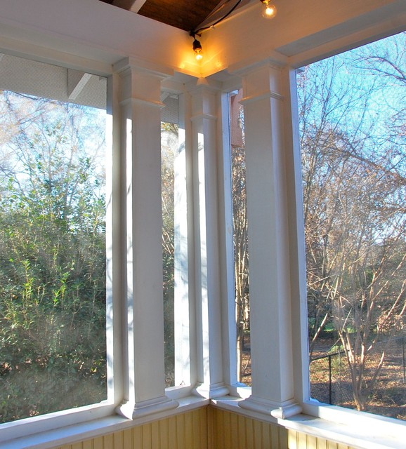 Old North Durham screened porch traditional-porch