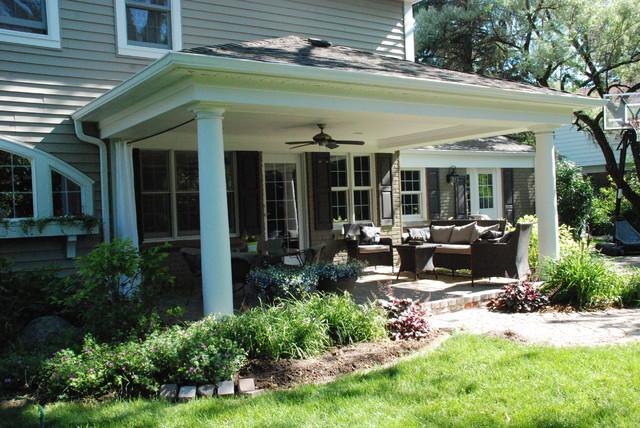 Open air backyard porch - Traditional - Porch - Detroit on Open Backyard Ideas id=66316