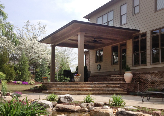 Open Back Porches Traditional Porch Atlanta By