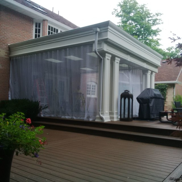 Outdoor Curtainsmosquito Drapesporch Screens Modern Veranda