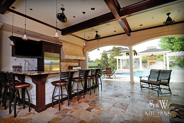 Outdoor kitchen contemporary porch tampa by s w for Outdoor kitchen ideas houzz