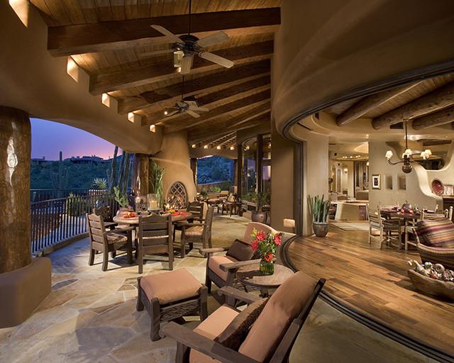 Outdoor living southwestern-porch