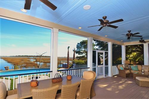 beach-style-porch Best Outdoor Wicker Patio Furniture