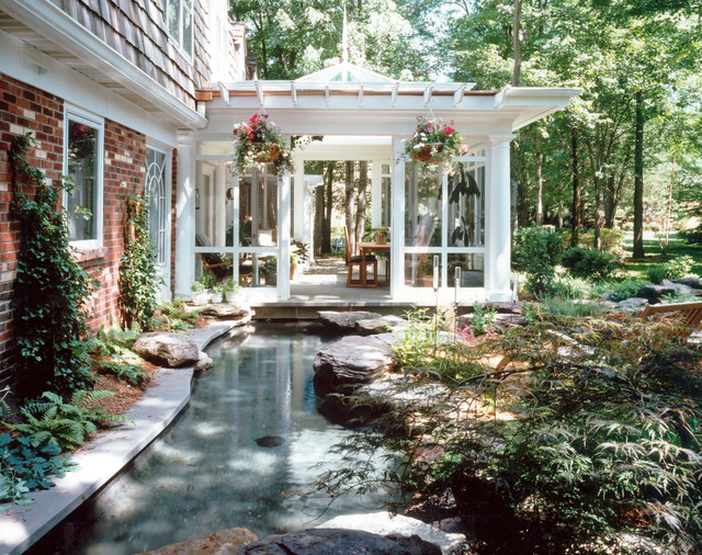 Outdoor Living Room & Lagoon - Traditional - Porch - dc ... on Tropical Outdoor Living id=67844