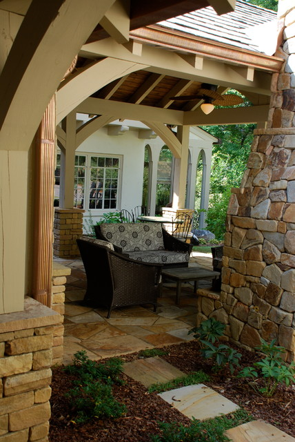 Outdoor loggia and covered spaces traditional porch for Garden loggia designs
