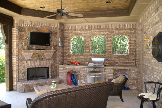 Outdoor Loggia Traditional Porch Dallas By