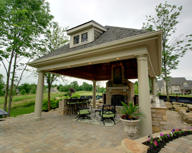 outdoor pavilion traditional porch