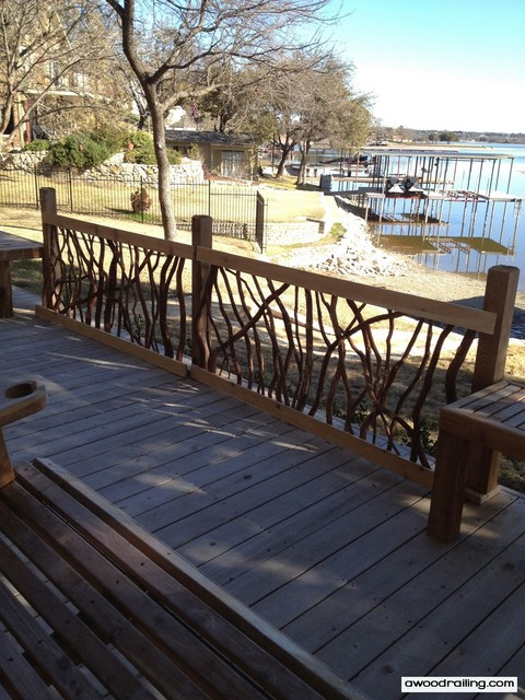 Outdoor Railings - Texas Lake House contemporary porch