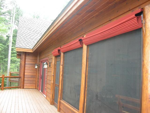 Screen Porch Blinds Rustic Veranda
