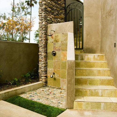 Outdoor Shower mediterranean porch
