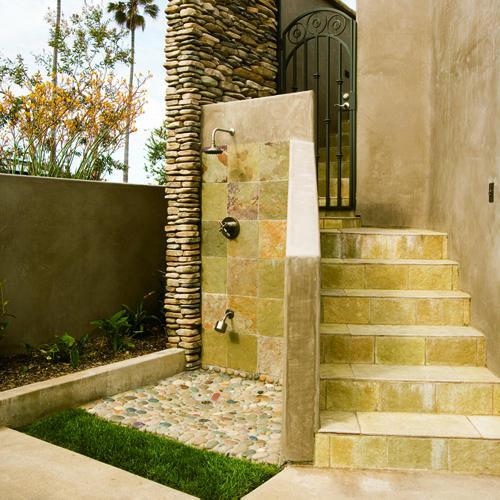 Outdoor Shower mediterranean-porch