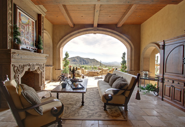 Outside Sitting Area - mediterranean - porch - phoenix - by ...