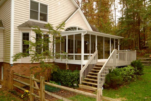 Patio Enclosures sun porch and deck - Traditional - Porch ...