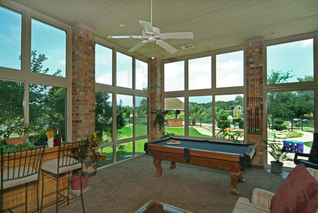Patio enclosures sunroom game room traditional porch for Porch rooms