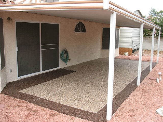 Patios Traditional Porch las vegas by Pebble Stone