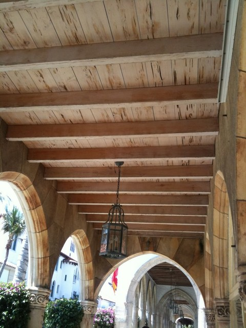 Pecky cypress ceiling Addison Mizner Palm Beach
