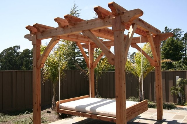 Pergola And Swing Bed
