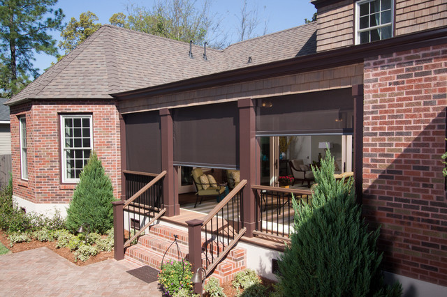 Phantom retractable screens at the kuppersmith project Motorized porch screens