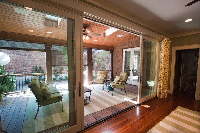 Phantom retractable screens at the Kuppersmith Project traditional-porch