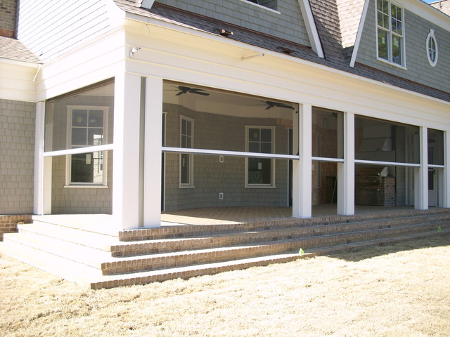 Phantom retractable screens in columbia sc traditional for Motorized retractable screens for porches