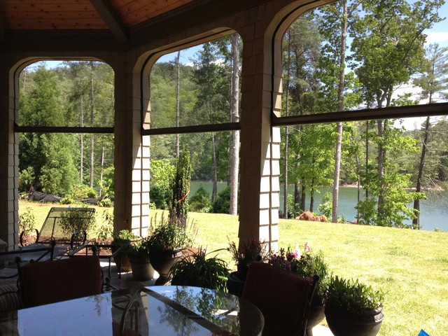 Phantom Retractable Screens on Lake house traditional-porch