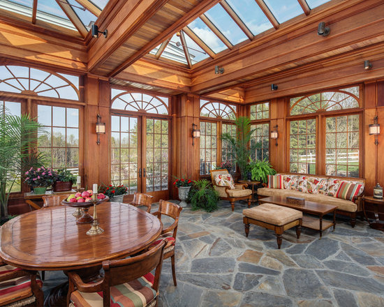 Conservatory floor home design ideas pictures remodel for Sunroom flooring ideas