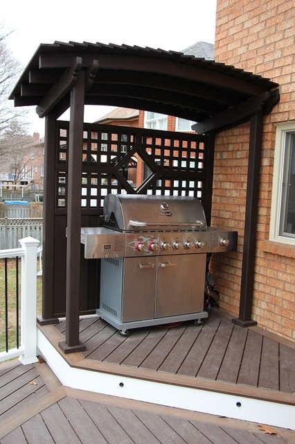 Pickering Curved Deck Traditional Porch Toronto By