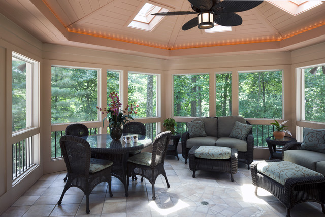 Pikesville-screen porch contemporary-porch