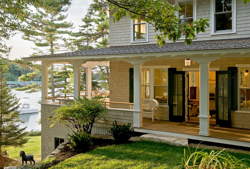 beautiful ways to embrace the wrap-around porch - country club homes