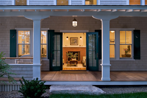 Porch at Dusk traditional porch