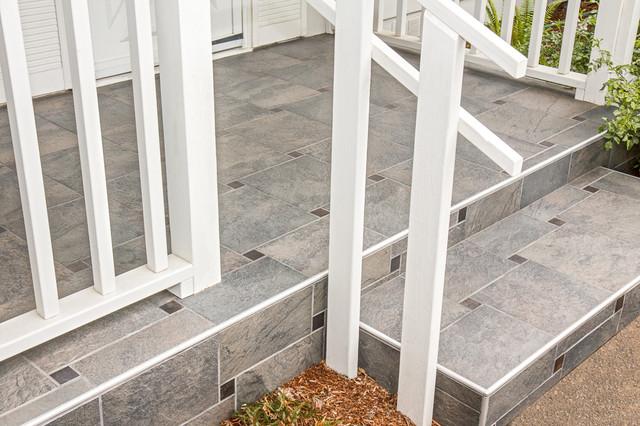 Pinwheel porch with shluter metal tile edges porch other by pinwheel porch with shluter metal tile edges porch ppazfo