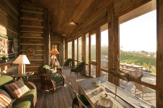 Pioneer Homestead Ranch Porch Rustic Porch Denver