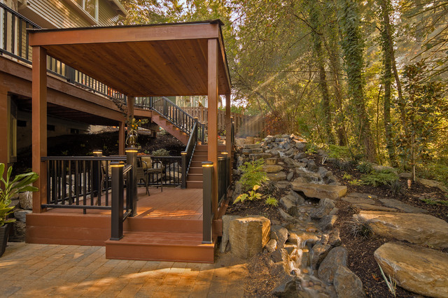 Plato project traditional porch portland by for Paradise restored landscaping exterior design