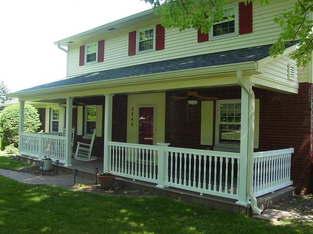 Porch addition traditional-porch